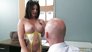 Casey Cumz giving a tit wank
