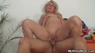 Lusty doggy style with a mature