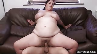 Vain BBW cutie picked up and nailed