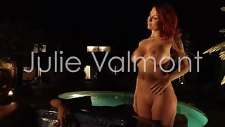 Julie Valmont naked at the pool