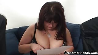 Fat mature slut and her two friends