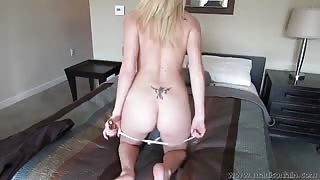 Madison Lain takes off her panties