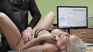 Hot secretary fucked on work desk