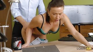 Office worker fucked over her desk