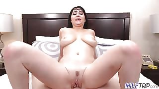 Allesandra Snow riding cock with her wet pussy