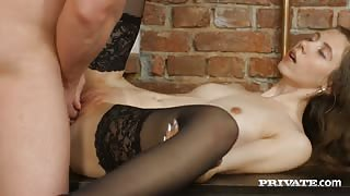 Russian Teen Stefany Gets Banged in Stockings