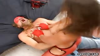 Pretty Brunette Dominated video