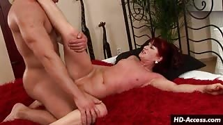 The fucking ride of the redheaded MILF