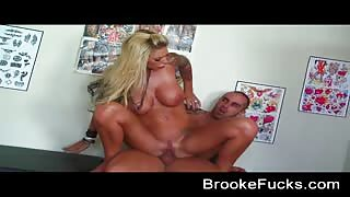 Brooke Banner fucking in tattoo shop