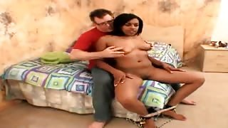 Busty young black girlfriend Shadee Layne teasing her white boyfriend with her hot body