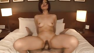 Asian girlfriends hotel room fuck
