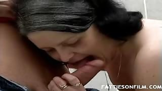 Fat Elderly Slurps Dick