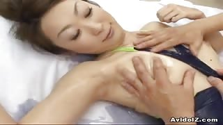 Adorable Japanese babe double blowjob and hot sex!