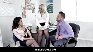 MYLFdom Adrian Hush Office Threesome Sex