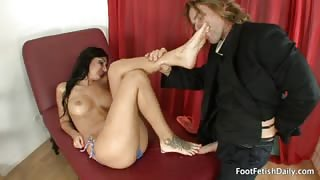 Amber Cox Loves Having Her Sexy Feet Worshipped