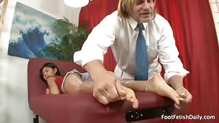 Cindy Starfall Gets Lotioned Up and Foot Worshipped