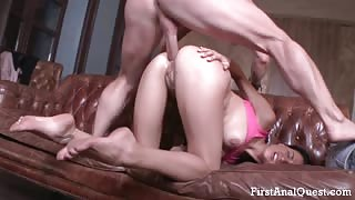 TEENAGE BUTT FUCK OF A CUTE BRUNETTE COED