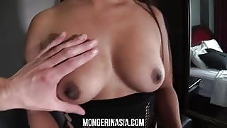 Topless thai girl with great tits