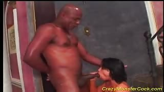 Erotic Latina gets immense cock