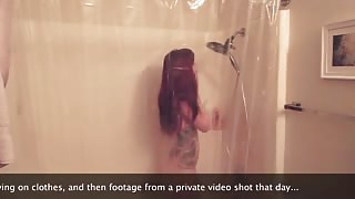 Ivy Snow in the shower nude