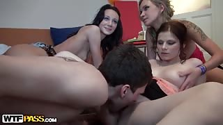 Crazy group fucking with awesome girls