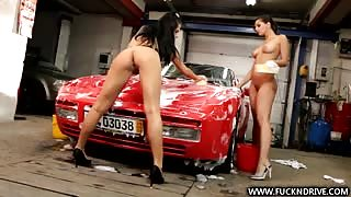 hot girls give car wash naked