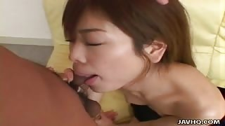 Ami Hyuuga swallows some cum