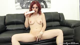 Jessica Ryan Brings Out Her Dildo