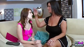 Hot milf lesbian sex with Bella Young and Sammy Brooks