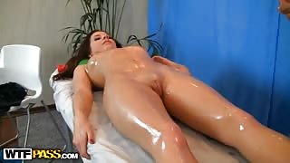 Young girl doing massage pussy