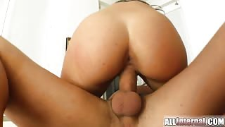 All Internal Celine's pussy holds his load and drips with sperm