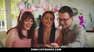 Uncle Fucks Two Bunny teen girls