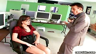Jennifer White hot secretary fucks her boss video