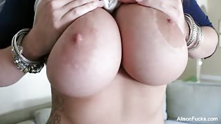 Alison Tyler shows her huge tits