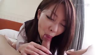 Cute Asian girls blowjob