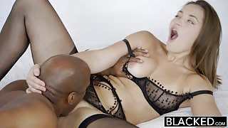BLACKED Dani Daniels fucks huge black dick