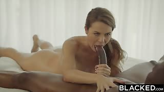 BLACKED Ally Tate fucks a huge black dick