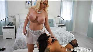 Master Ties Up Jasmeen Lafleur and Gives Her to Alura Jenson threesome