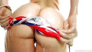 Holly Michaels American flag bikini porn