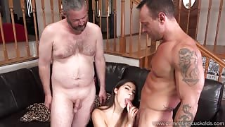 Brunette Wife Shares a Cock With Her Cum Hungry Husband