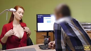 redhead fucked in the work office