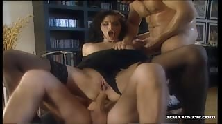 Lara Sucks and Fucks Two Men Who Double Penetrate Her Sexy Body