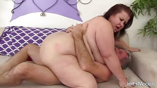 Lady Lynn - Mature BBW Lady Lynn takes two dicks