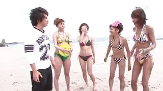 Asian Volley Ball Girls in group sex video