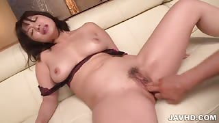 Big ttis Wakaba Onoue drilled with toys in hardcore